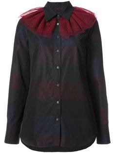 полосатая рубашка с оборками на горловине Osman