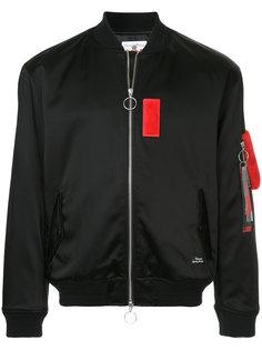 куртка-бомбер с контрастной заплаткой  Education From Youngmachines