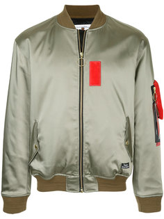 куртка-бомбер с контрастной зпалаткой Education From Youngmachines