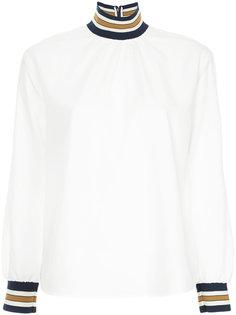 рубашка с высоки воротником в полоску Guild Prime
