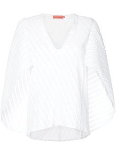 блузка с диагональной плиссировкой Manning Cartell