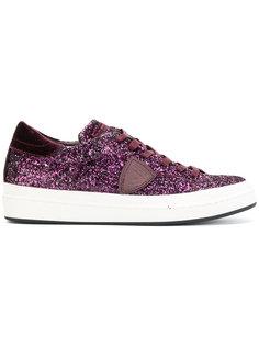 кроссовки с блестящей отделкой  Philippe Model