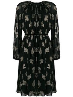 платье-шифт с люрексом и воротником со сборкой Max Mara