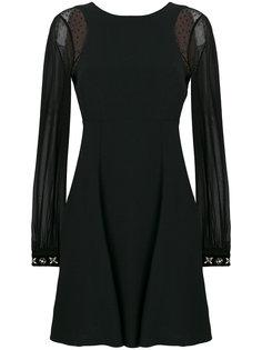 расклешенное платье  с украшением из поделочных камней на манжетах Max Mara