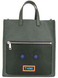 сумка-тоут с аппликацией Fendi