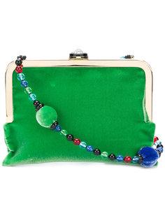 маленькая сумка с лямкой из бусин Giorgio Armani