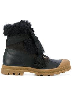 ботинки на массивной подошве с отделкой из овечьего меха Chloé