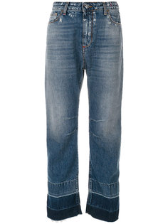 суженные снизу джинсы с контрастной отделкой  Twin-Set
