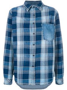 джинсовая рубашка в клетку  Current/Elliott