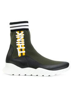 кроссовки с носочной вставкой  Fendi
