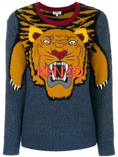 джемпер с узором интарсия в виде тигра  Kenzo