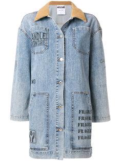 джинсовая куртка с накладными карманами Moschino