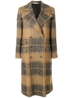 двубортное пальто в клетку  Tonello