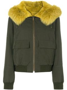куртка-бомбер с капюшоном  Army Yves Salomon