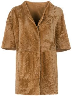 пальто на пуговицах с короткими рукавами  Drome