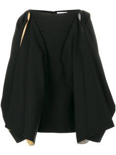 юбка с драпировкой и контрастными вставками  JW Anderson