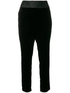 бархатные брюки с завышенной талией  Alexandre Vauthier