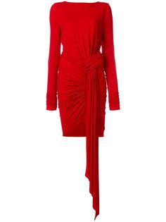 трикотажное платье со сборкой  Alexandre Vauthier