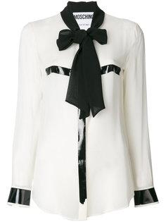 блузка с завязкой на мягкий бант  Moschino