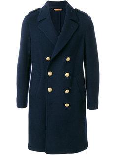 длинное двубортное пальто Lardini