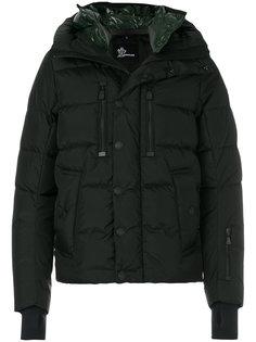 стеганое пальто с декорированным воротником Moncler Grenoble