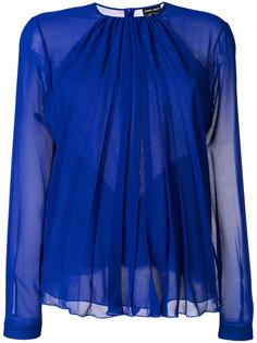 полупрозрачная присборенная блузка  Giorgio Armani
