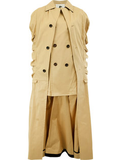 пальто асимметричного кроя с длинными рукавами Aganovich