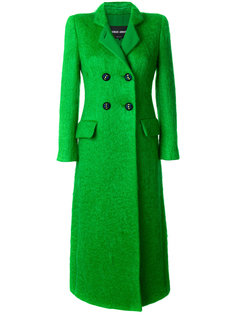 длинное двубортное пальто  Giorgio Armani