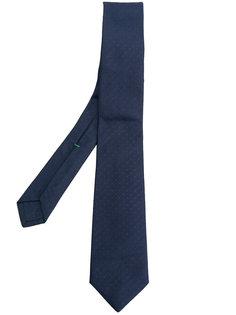жаккардовый галстук в горох Borrelli