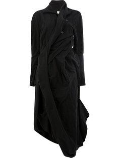 платье перекрученного дизайна с длинными рукавами Aganovich