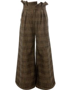 широкие брюки с поясом Aganovich