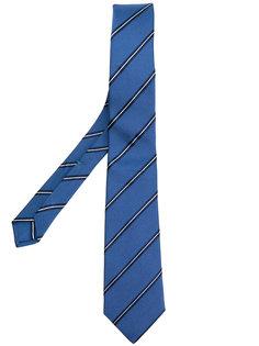 жаккардовый галстук в полоску Borrelli