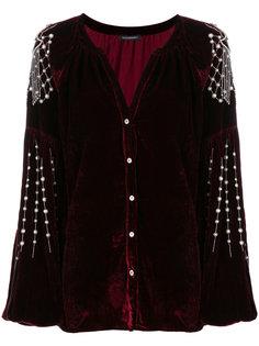 бархатная блузка с отделкой  Wandering