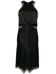 атласное платье c отделкой в виде кольчуги Alexander Wang