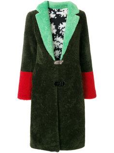 пальто с контрастной отделкой  Saks Potts