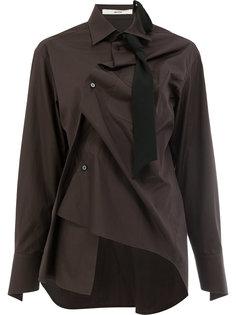 рубашка перекрученного дизайна с длинными рукавами Aganovich