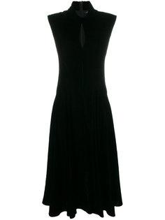 бархатное асимметричное платье Neil Barrett