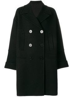 двубортное пальто с манжетами с ребристой фактурой Neil Barrett