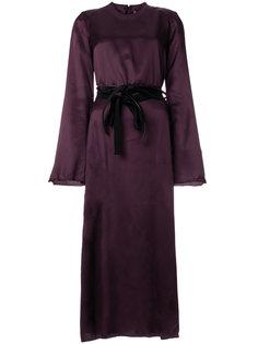 платье-миди с эффектом потертости Maison Margiela