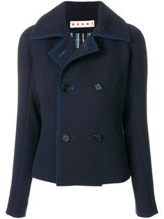 пальто с контрастной строчкой Marni