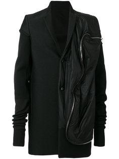 куртка комбинированного кроя Rick Owens