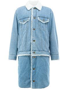 удлиненная джинсовая куртка Facetasm