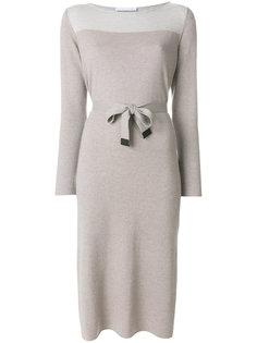 двухцветное платье с поясом  Fabiana Filippi