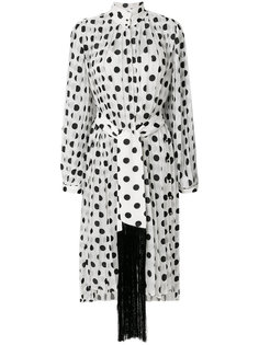 плиссированное платье в горох  Zimmermann