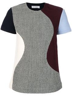 футболка в ломаную клетку со вставками  Victoria Beckham