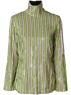 блузка в полоску с пайетками  MSGM