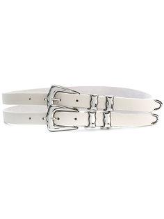 двойной ремень с пряжками B-Low The Belt
