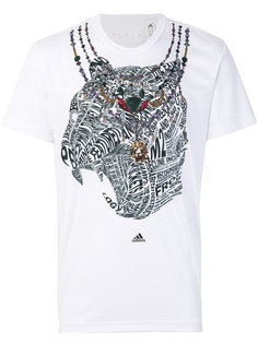 футболка с абстрактным принтом Adidas By Kolor