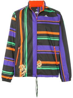 куртка с полосатым принтом Adidas By Kolor