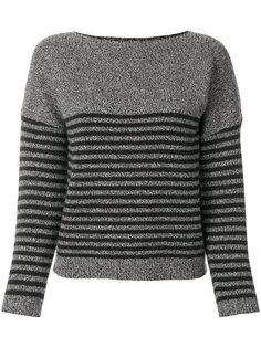 свитер в полоску с заплатками на локтях Bellerose